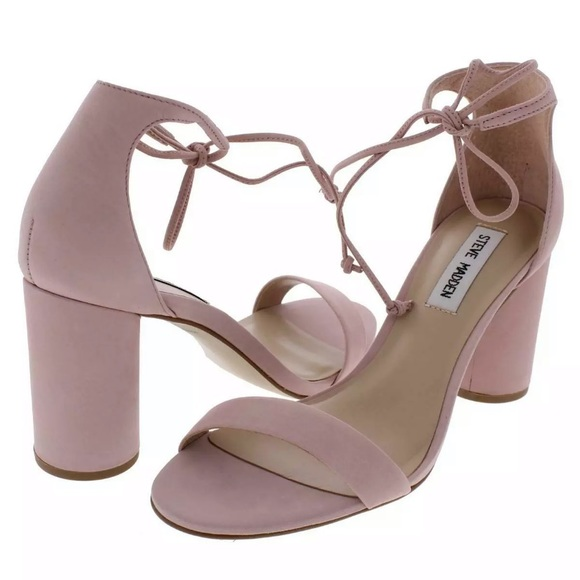 Steve Madden Pink Suede Leather Lace-Up Heels